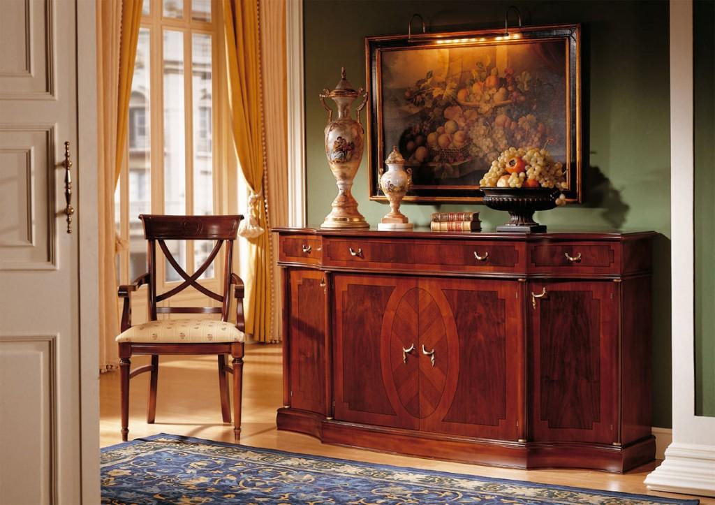 aparador de estilo coleccion Versalles en nogal