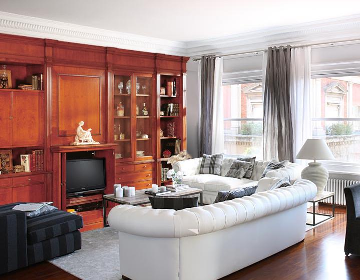 Modular para salón adaptado al espacio con estilo