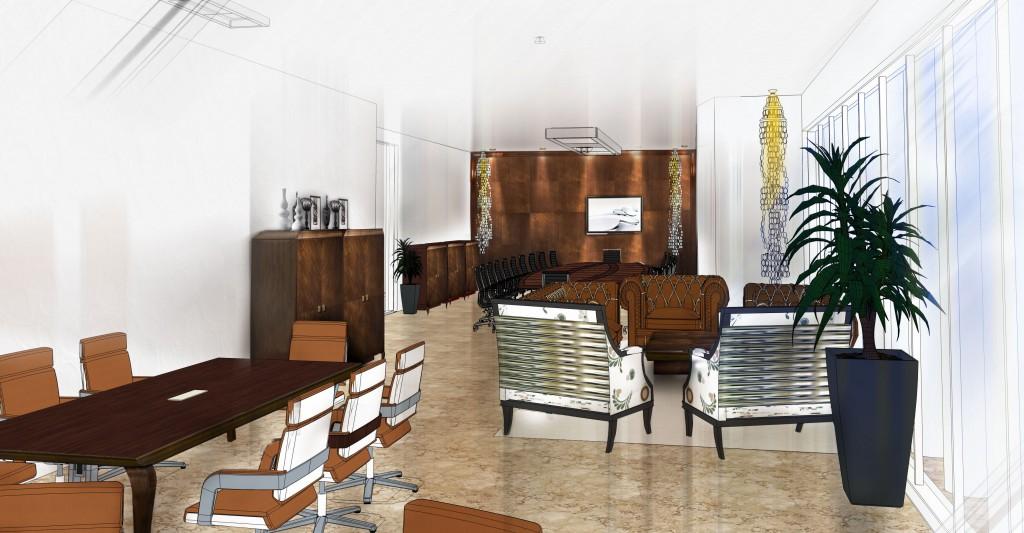 Proyecto de oficina con la colección Tiffany